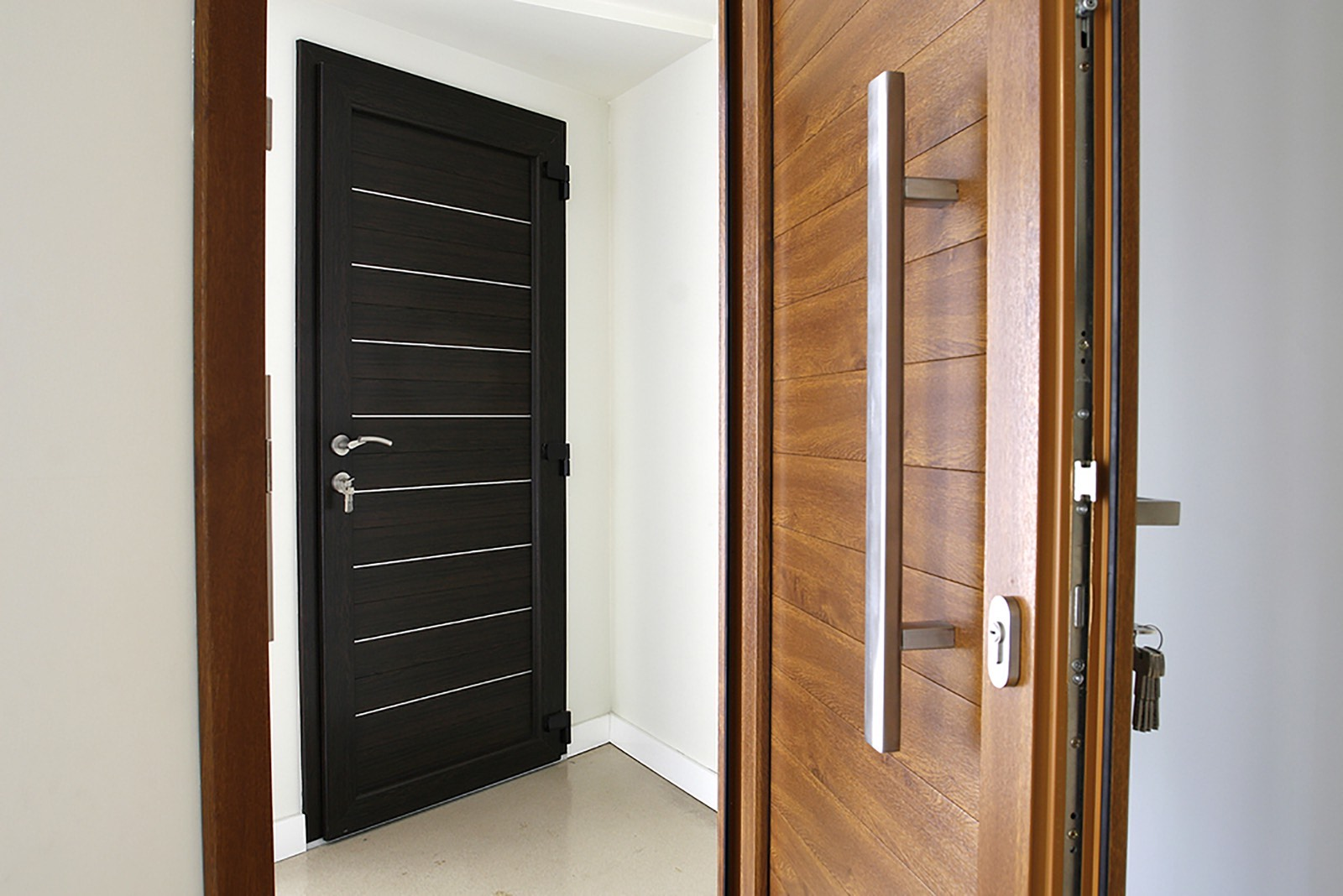 Heat-efficient composite front doors, Camberley